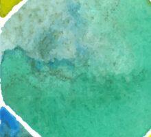 Green watercolor diamond Sticker