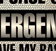 Save my Bass Sticker