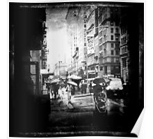 rainy day in the city Poster