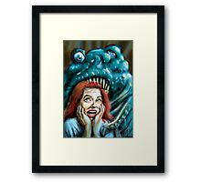 The Horrible Thing  Framed Print