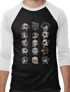 The Walking Dead Puffs Parody Men's Baseball ¾ T-Shirt