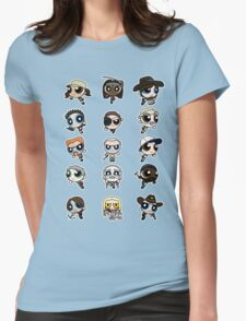 The Walking Dead Puffs Parody Womens Fitted T-Shirt