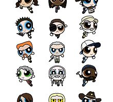The Walking Dead Powerpuffs by BovaArt