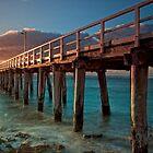 Warm Rays on a Pier by Krishna Gopalakrishna