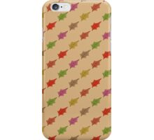 Autumn leaves pattern -beige/brownish- iPhone Case/Skin