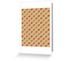 Autumn leaves pattern -beige/brownish- Greeting Card
