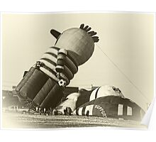 Funny Hot Air Balloon, Vintage Style Photo Poster