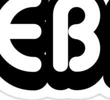 Reba (black) Sticker