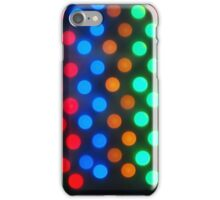 Top view on the blurred bright circles colored abstract iPhone Case/Skin