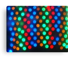 Top view on the blurred bright circles colored abstract Canvas Print