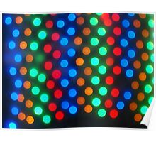 Top view on the blurred bright circles colored abstract Poster