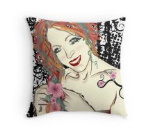 Elegant Darkness of Yours... Throw Pillow