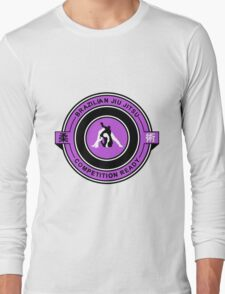 Brazilian Jiu Jitsu Competition Ready Triangle Choke Purple  Long Sleeve T-Shirt