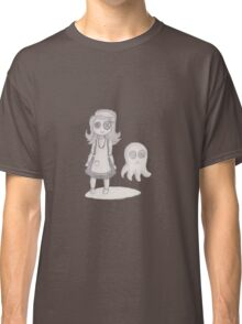 button girl and tenta-ghost Classic T-Shirt