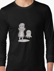 button girl and tenta-ghost Long Sleeve T-Shirt