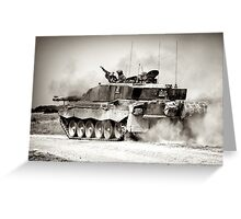 """Heavy Armour""- Challenger 2 Main BattleTank (MBT) British Army Greeting Card"