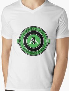 Brazilian Jiu Jitsu Competition Ready Triangle Choke Green  Mens V-Neck T-Shirt