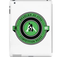 Brazilian Jiu Jitsu Competition Ready Triangle Choke Green  iPad Case/Skin
