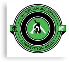 Brazilian Jiu Jitsu Competition Ready Triangle Choke Green  Canvas Print