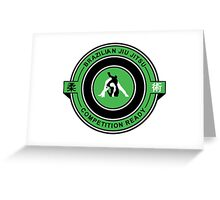Brazilian Jiu Jitsu Competition Ready Triangle Choke Green  Greeting Card