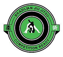 Brazilian Jiu Jitsu Competition Ready Triangle Choke Green  Photographic Print