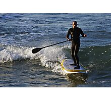 Stand Up Paddle Surfing at Torquay Photographic Print