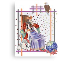 The Tarot Emperor Metal Print