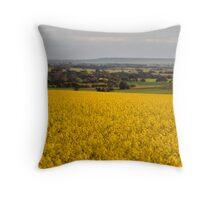 Canola crops Yorke Peninsula Throw Pillow