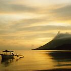 Volcano and Sea, Pulau Bunaken, North Sulawesi, Indonesia by Jane McDougall