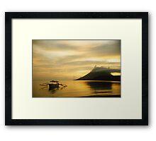 Volcano and Sea, Golden Sunset, Pulau Bunaken, North Sulawesi, Indonesia Framed Print