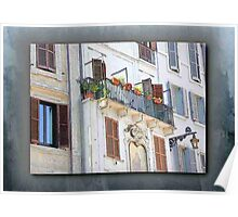 Patio & Shuttered Windows - Italy Poster