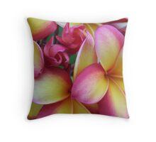 Rainbow Frangipani - Warming Throw Pillow