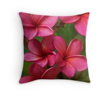 Blood Red Frangipani - Intense Throw Pillow