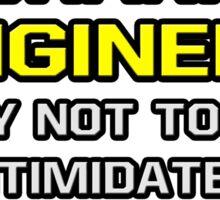 Mechanical Engineer .. Superior Intelligence Sticker