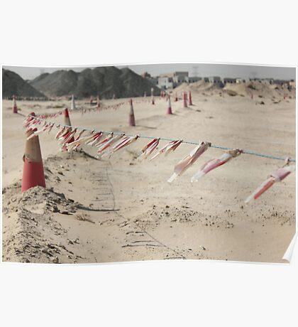 Desert Construction Poster