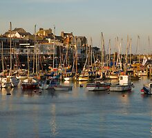 Bridlington Harbour in evening light by StephenRB