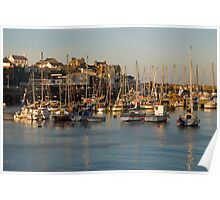 Bridlington Harbour in evening light Poster