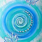 Mandala Art : Blue Butterflies by danita clark