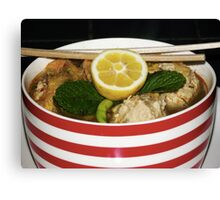 Spicy Chicken meatball Soup Canvas Print