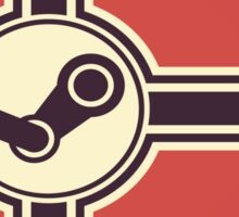 steam flag Sticker