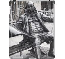 Life-Size, Bronze Statue, Benjamin Franklin, Country Club Plaza iPad Case/Skin