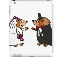 Cool Funky Hedgehog Bride and Groom Wedding Art iPad Case/Skin