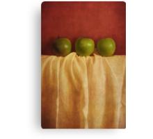 trois pommes Canvas Print