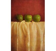 trois pommes Photographic Print