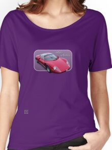 1967 Alfa Romeo Stradale 33 - Art on Wheels Women's Relaxed Fit T-Shirt