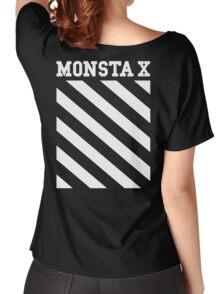 Monsta X Off-White Inspired Logo Women's Relaxed Fit T-Shirt