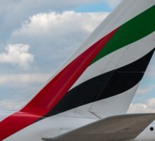 Emirates Airbus A380 tail livery Sticker