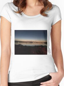 Boston Sunset Women's Fitted Scoop T-Shirt
