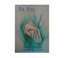 An Axe - Blue Velvet Inspired Gig Poster Art Print