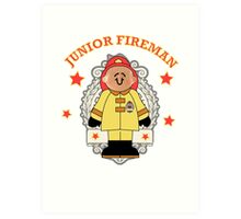 Junior Toy White Fireman Art Print